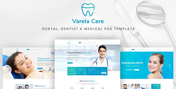 Varela Care - Dental, Dentist & Medical PSD Template - Health & Beauty Retail