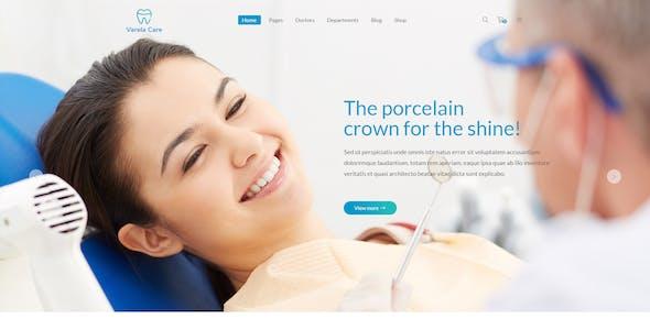 Varela Care - Dental, Dentist & Medical PSD Template