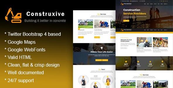Construxive - Construction Building Company Template - Business Corporate