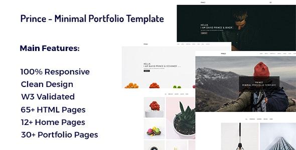 Prince - Minimal Portfolio Template - Portfolio Creative