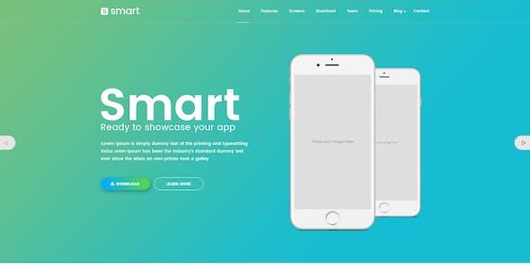 SMART - App Landing Page HTML Template