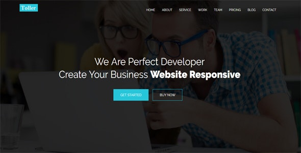 Toller - One Page Multipurpose Template - Creative Site Templates