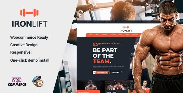 IronLift - Fitness and Gym WordPress Theme - Business Corporate
