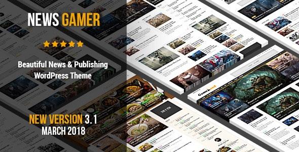 News Gamer - A Newspaper Publishing Theme - News / Editorial Blog / Magazine