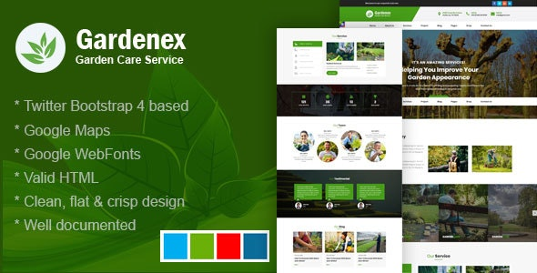 Gardenex - Gardening and Landscaping Bootstrap4 Responsive Template - Business Corporate