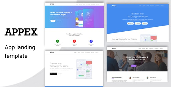 Appex- App Landing Template - Technology Site Templates