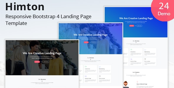 Himton - Responsive Bootstrap 4 Landing Page Template - Landing Pages Marketing