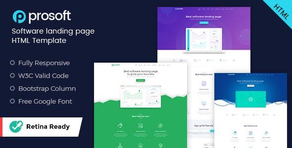 ProSoft - Software Landing Page HTML Template
