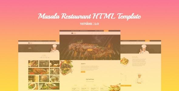 Masala Restaurant HTML Template - Food Retail