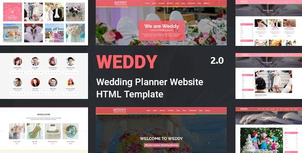 Weddy - Wedding Planner Website Template - Wedding Site Templates