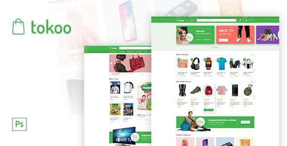 Tokoo - Electronics eCommerce PSD - Retail Photoshop