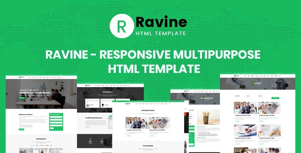 Ravine - Multipurpose Responsive HTML Template by aclthemes