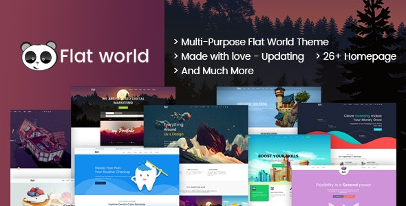 Flat World - Multi-Purpose Category Site Template - Corporate Site Templates