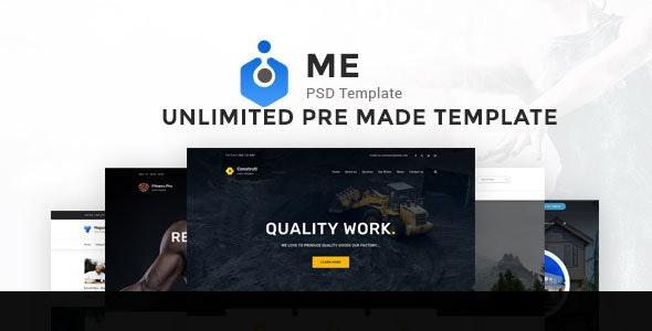 ME Multipurpose PSD Template - Corporate Photoshop