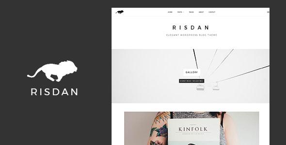 Risdan - Personal & Elegant WordPress Theme - Personal Blog / Magazine