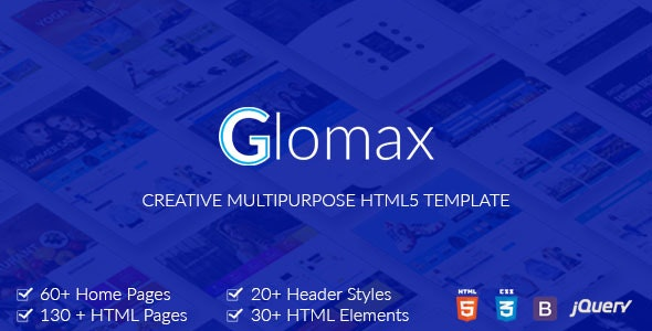 Glomax - Creative and Ecommerce Multipurpose HTML Template - Corporate Site Templates