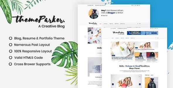 Themeparker | Blog & Portfolio Responsive HTML Template - Site Templates
