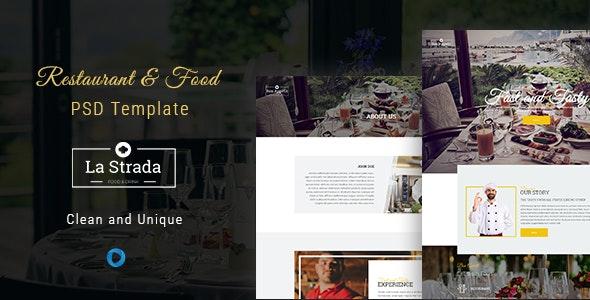 La Strada - Restaurant, Food & Chef PSD Template - Food Retail