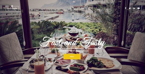 La Strada - Restaurant, Food & Chef PSD Template