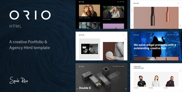 Orio - A Creative Portfolio & Agency HTML Template
