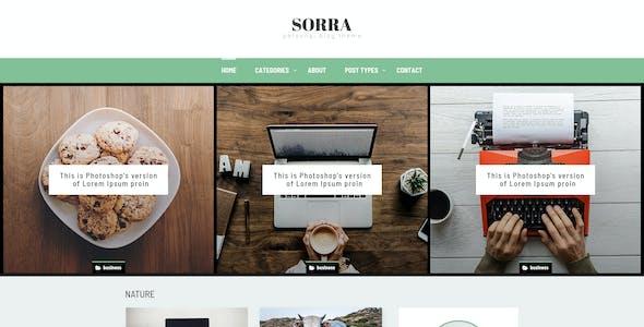 Sorra - Personal Blog PSD Template