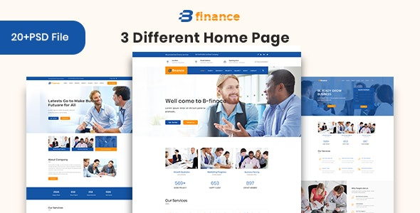 B Finance - Business and Finance PSD Template - Photoshop UI Templates