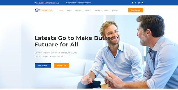 B Finance - Business and Finance PSD Template