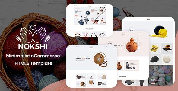 Nokshi - Handmade & Craft Bootstrap4 Template