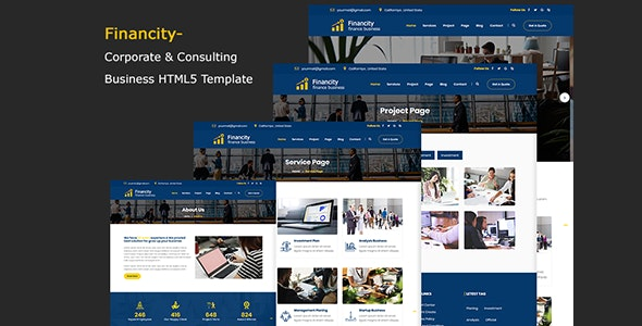Financity - Corporate & Consulting Business Template - Corporate Site Templates