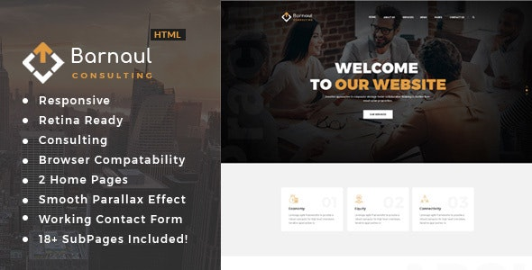 Barnaul - Business Consulting and Professional Services HTML Template - Business Corporate