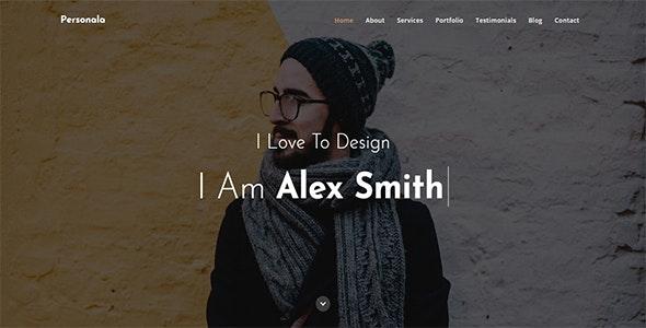 Personala - One Page Portfolio - Personal Site Templates