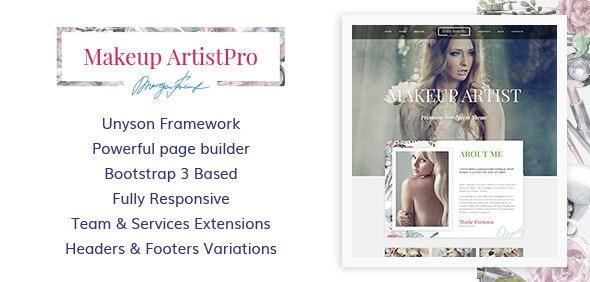 MakeUp Artist Pro - MakeUp Artist, Beauty and Hair Stylist WordPress Theme
