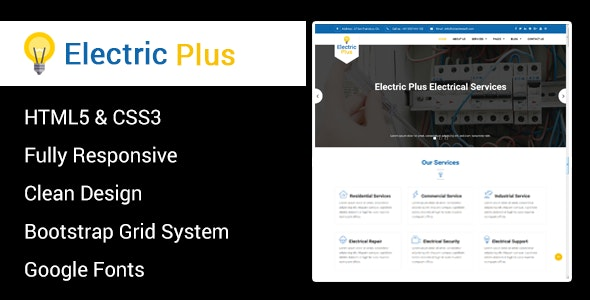 Electric Plus - Electricity Services HTML5 Responsive Template - Business Corporate