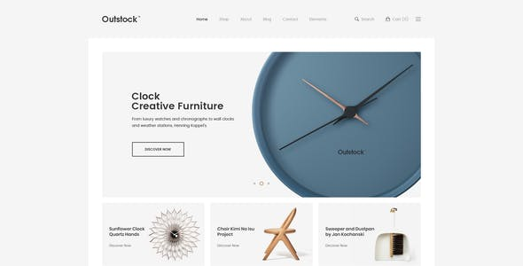 Outstock - Clean, Minimal eCommerce PSD Template