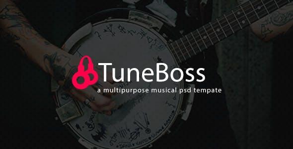 TuneBoss - Music & Portfolio PSD Template