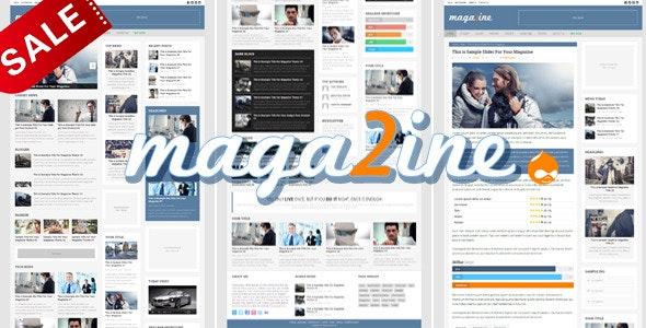 M2 - Modern Magazine Drupal  7.6 Theme - Blog / Magazine Drupal
