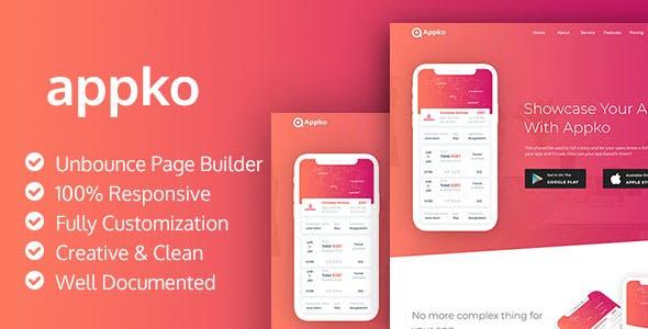 appko - Unbounce App Landing Page