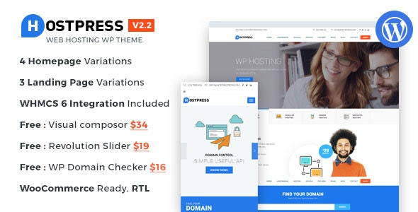 HostingPress - WHMCS Hosting WordPress Theme - Hosting Technology