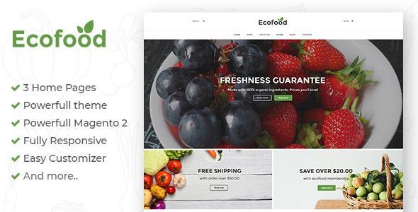 Ecofood - Responsive Organic Store Magento 2 Theme - Shopping Magento