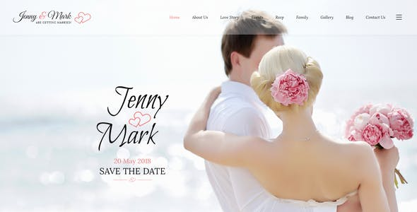 Wedding Invitation - Couple Event & Celebration PSD Template