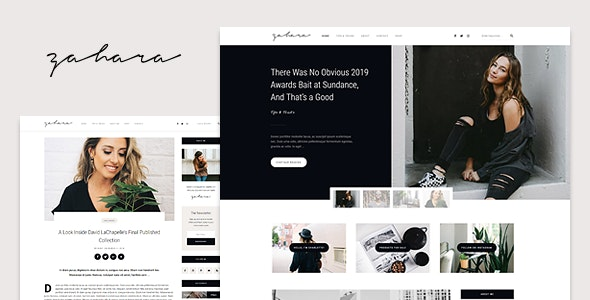 Zahara - A WordPress Blog & Shop Theme - Personal Blog / Magazine