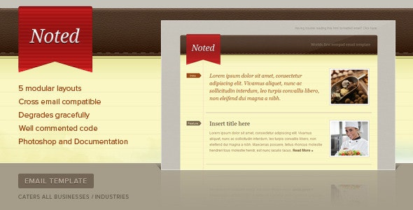 Noted Email Newsletter Template - Email Templates Marketing