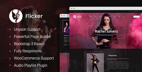 Flicker – Musician WordPress Theme