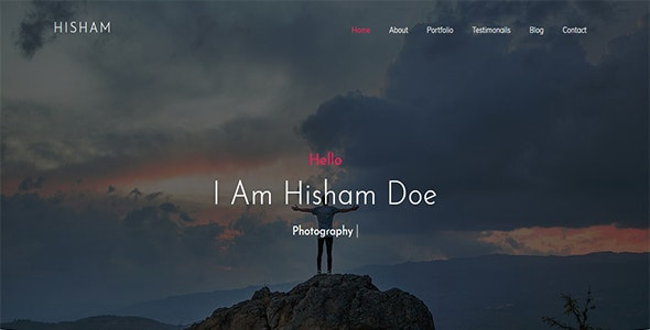 HCard - Creative One Page Portfolio - Personal Site Templates