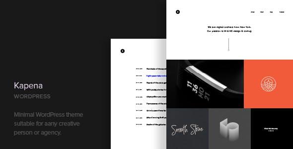 Kapena - Minimal Portfolio WordPress Theme by CocoBasic