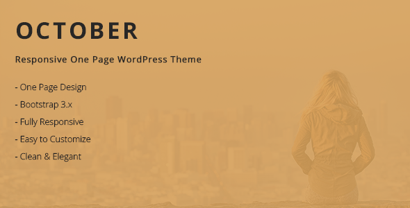 Free Responsive One Page WordPress Theme - October