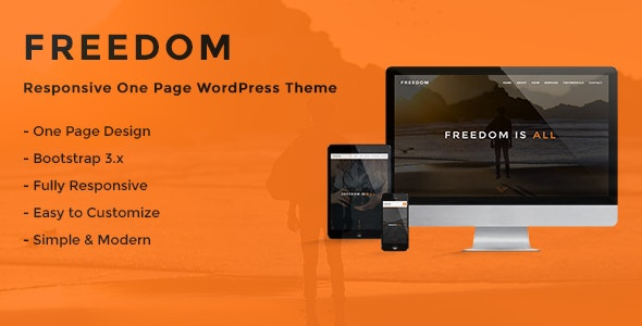 Freedom - Responsive One Page WordPress Theme - Portfolio Creative