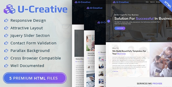 U-Creative - Onepage HTML Template (Business, Creative, Agency, Corporate, Portfolio) - Site Templates