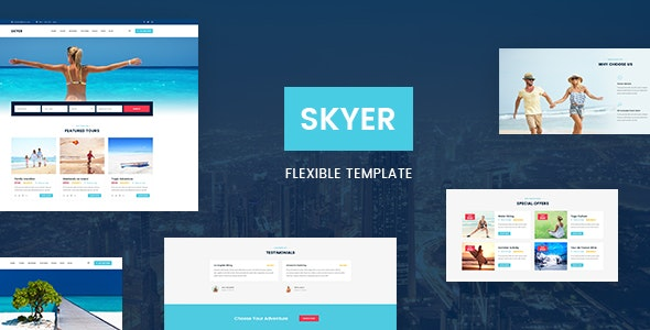 Skyer - Tours and Travel PSD Template - Travel Retail