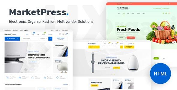MarketPress - ECommerce & Multivendor HTML Template - Shopping Retail